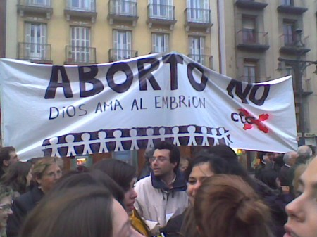 La CTC en la manifestación por la Vida de Pamplona